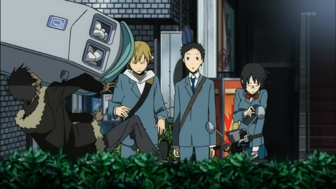 durarara shizuo throws vending machine